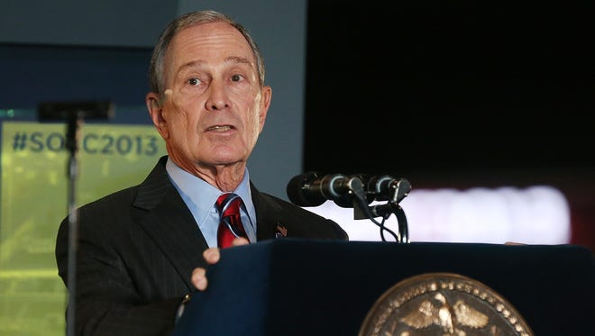 New York Mayor Michael Bloomberg delivers the annual State of the City address at the Barclays Center in Brooklyn.