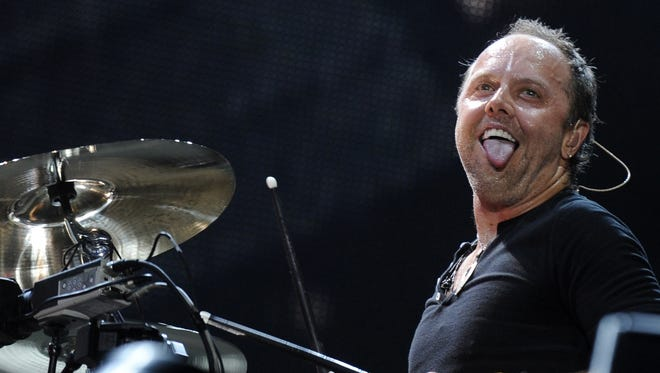 Lars Ulrich of the American heavy metal band Metallica performs during their Sonisphere festival concert in Warsaw.