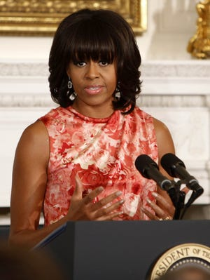 First lady Michelle Obama is introducing her plan to identify healthy recipes today.