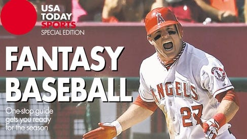 USA TODAY Sports' fantasy baseball special edition features Angels outfielder Mike Trout on one of the regional covers. Inside, you'll find the rankings, projections and player analysis you need to win your league.