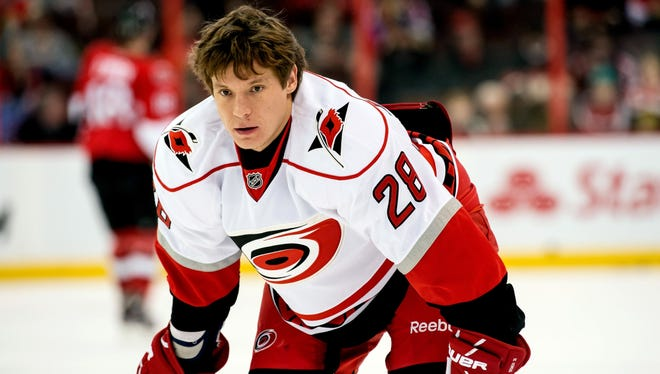 Alexander Semin has four goals and 14 points in his first season with the Carolina Hurricanes.