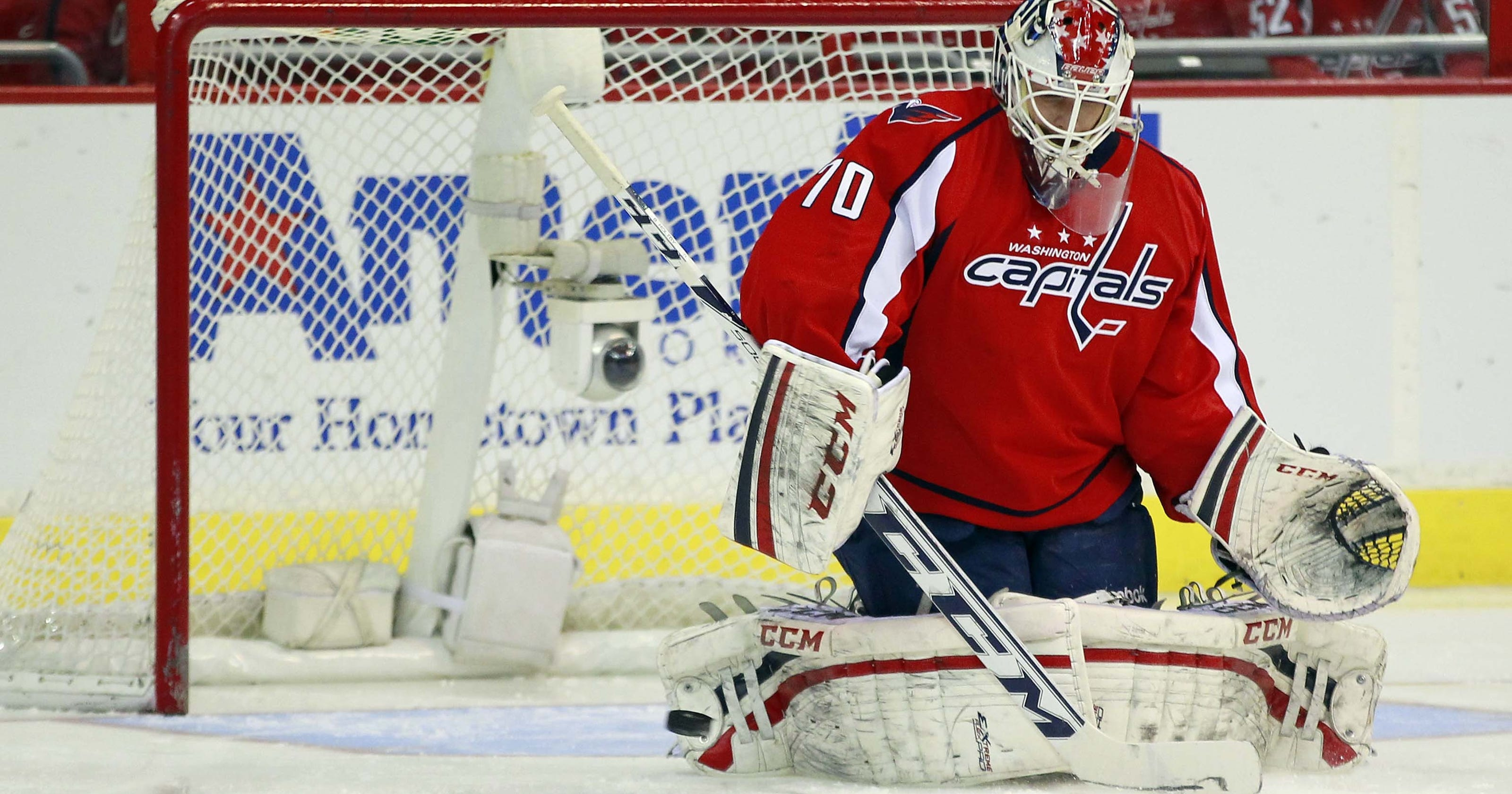 premium selection 08e36 f5eb0 Capitals re-sign Braden Holtby, John Erskine to 2-year deals