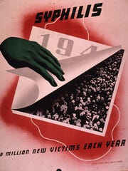 Wartime syphilis awareness poster