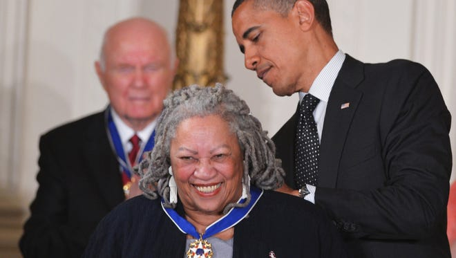 Barack Obama presents the Presidential Medal of Freedom to Toni Morrison during a ceremony on May 29, 2012. Join Morrison in a Google+ chat tomorrow.