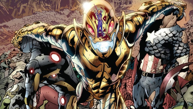 """The evil Avengers villain and sentient robot has finally won in the first issue of the Marvel Comics event series """"Age of Ultron."""""""