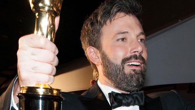 Actor/Director Ben Affleck has an Oscar but no longer has his beard.