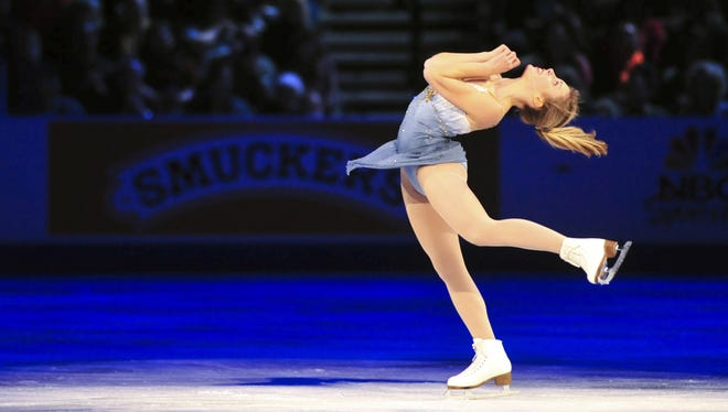Ashley Wagner skates during the skating spectacular at the 2013 U.S. Figure Skating Championships in the CenturyLink Center in Omaha on Jan. 27.