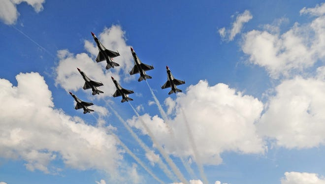 The Air Force Thunderbirds will not be performing additional flyovers starting in April if severe budget cuts take effect.