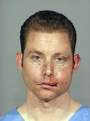 Jeremy Goulet, seen here a 2007 Portland, Ore., police booking photo, was shot dead Tuesday after he killed two Santa Cruz, Calif., police officers.