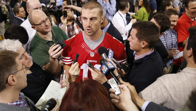 Alex Smith was put up for trade by the 49ers after the emergence of  Colin Kaepernick at quarterback.