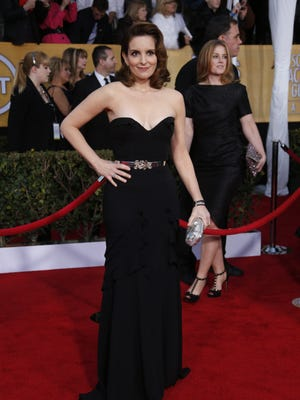Tina Fey arrives at the Screen Actors Guild Awards on Jan 25.