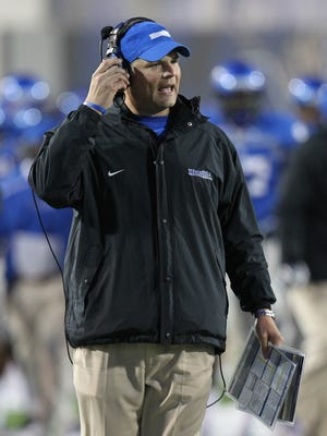 Second-year Memphis coach Justin Fuente enters spring drills looking to build on last season's 4-8 finish.