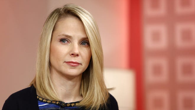 """Yahoo CEO Marissa Mayer introduces the website's redesign on the """"Today"""" show Feb. 20 in New York."""
