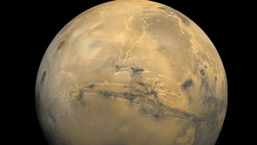 A view of Mars from NASA's 1970s Viking mission.