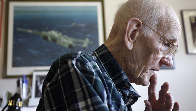Tom Griffin of Green Township, Ohio, is seen in a March 7, 2012, photo. Griffin, who died Tuesday, Feb. 26, 2013, at age 96, was one of Doolittle's Raiders in World War II.
