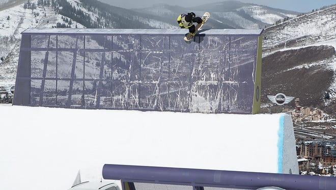 Torstein Horgmo of Norway competes in the men's slopestyle competition at the U.S. Open in Vail, Colo.