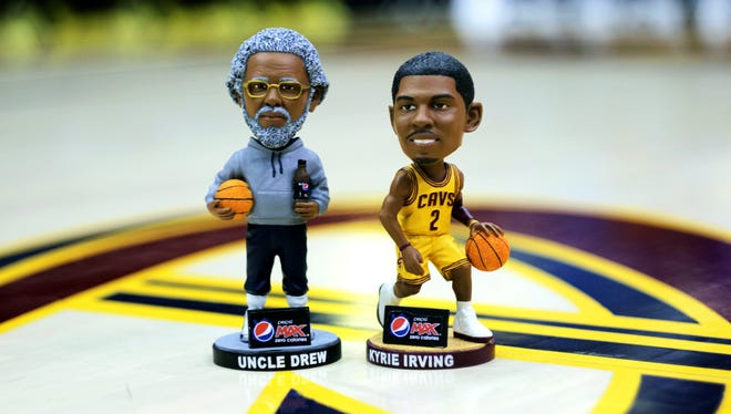 Fans at Monday's Knicks-Cavaliers game will receive a Kyrie Irving bobblehead. Fifty random fans will receive the Uncle Drew bobblehead.