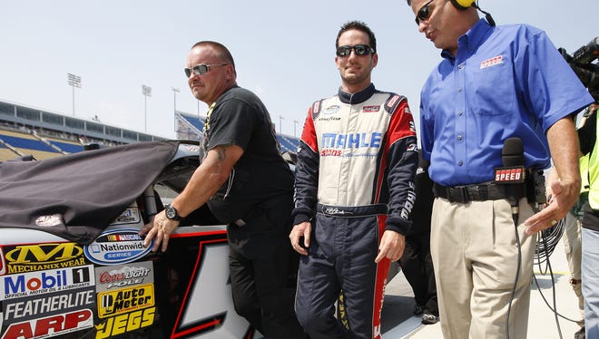 Jeremy Clements, shown here before qualifying in 2011, was suspended indefinitely by NASCAR on Wednesday.
