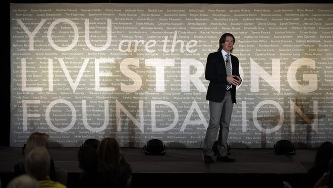 Livestrong vice president Andy Miller speaks at the foundation's annual meeting Thursday in Chicago.