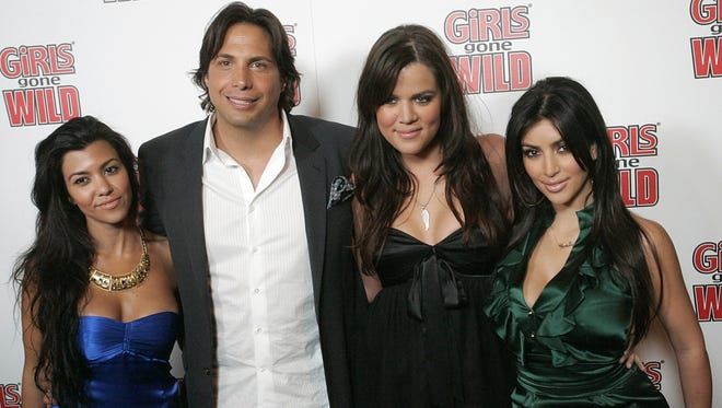 The three Kardashian sisters joined Girls Gone Wild founder Joe Francis in 2008 at a launch party for his GGW magazine.