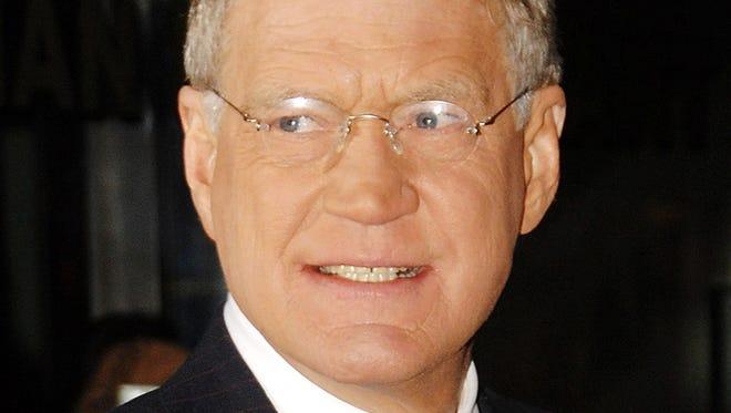 Television talk show host David Letterman.