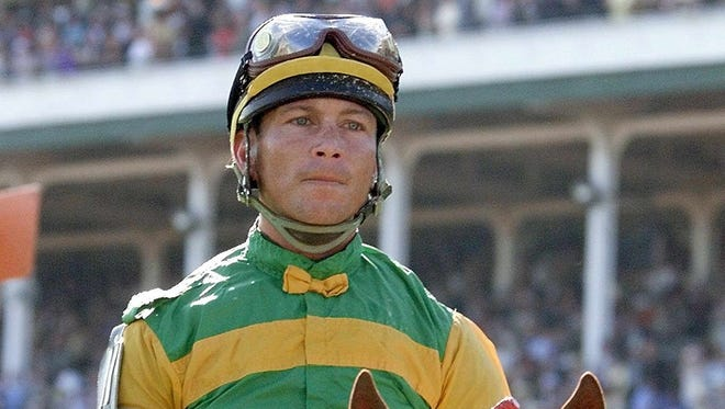 Jockey Chris Antley aboard Charismatic after winning the 1999 Kentucky Derby. Antley, 34, was found dead in December 2000 after suffering trauma to the head.