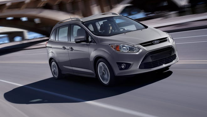The Ford C-Max is a compact family vehicle.