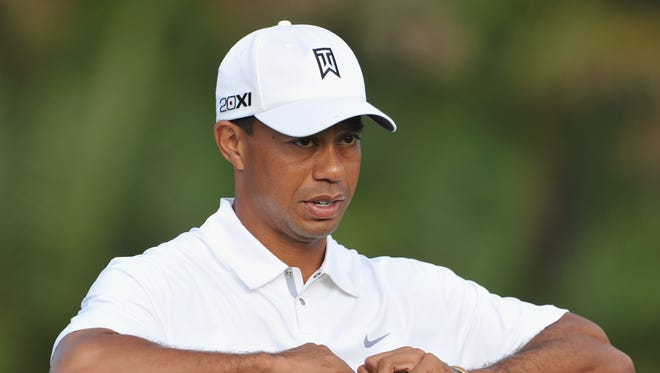 Tiger Woods during the pro-am on Wednesday at the Honda Classic.