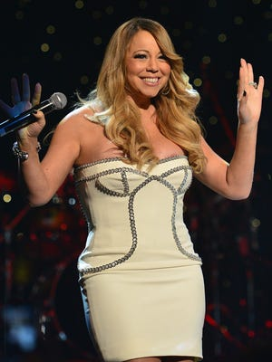 Mariah Carey onstage at the So So Def 20th anniversary concert at the Fox Theater on Feb. 23 in Atlanta