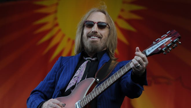 Tom Petty performs at the New Orleans Jazz and Heritage Festival in 2012.