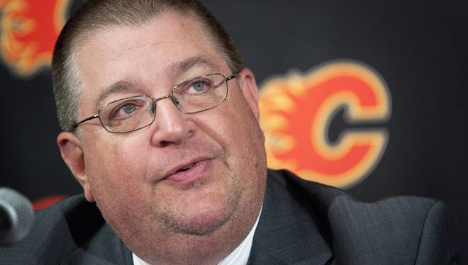 Calgary Flames general manager Jay Feaster says he disagrees with the interpretation that Ryan O'Reilly would have had to go on waivers.