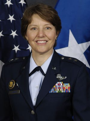 Maj. Gen. Michelle Johnson will become the Air Force Academy's first female superintendent once the Senate approves her promotion to three-star lieutenant general.