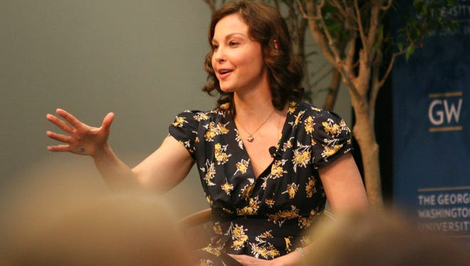 Actress Ashley Judd speaks about women's health at George Washington University in Washington Friday.