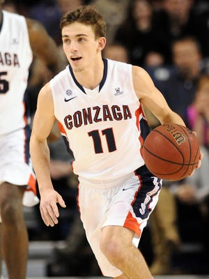 Gonzaga guard David Stockton averages 3.8 points and 3.2 assists a game, as the Bulldogs gear up for the NCAA tournament.