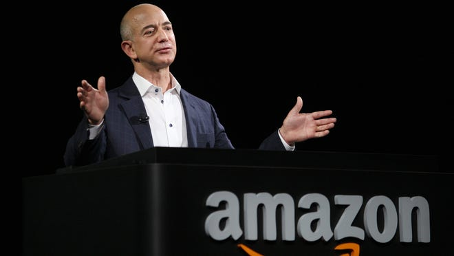 Amazon, under founder Jeff Bezos, has dominated the online retail field and its stock is up 297% since the dot-com crash of 2000.