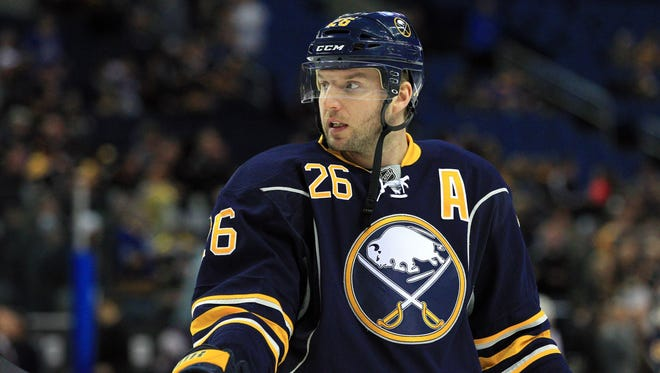 Buffalo Sabres left wing Thomas Vanek missed Saturday's game with an upper-body injury.
