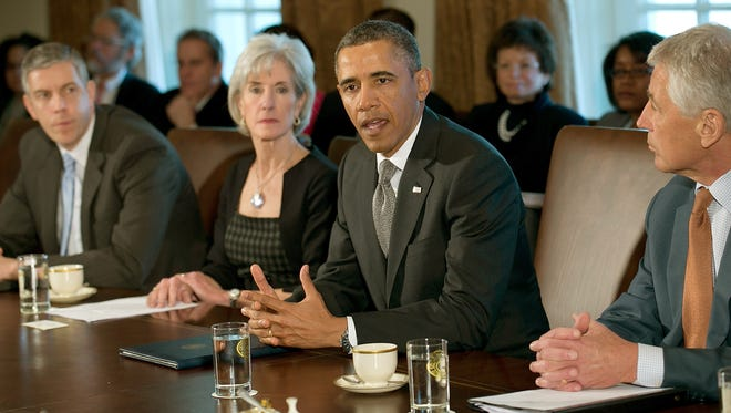 President Obama on Monday at a Cabinet meeting at the White House.