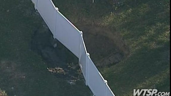 A second sinkhole, at least 10 feet across, has opened in Seffner, Fla.
