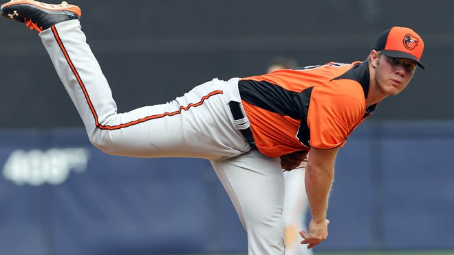 Dylan Bundy hopes to pitch 150-160 innings this season for the Orioles.