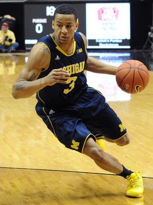 Trey Burke scored a team-high 26 points in Michigan's fourth win in five games.