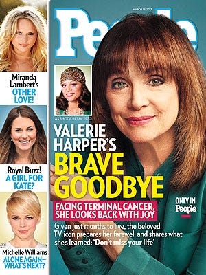 Valerie Harper talks to 'People' about her terminal cancer.