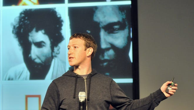 Facebook CEO Mark Zuckerberg speaks during a media event at Facebook's Headquarters office in Menlo Park, California.