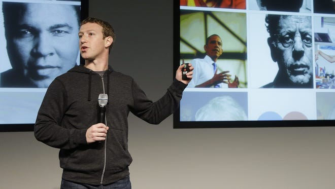 Facebook CEO Mark Zuckerberg speaks at Facebook headquarters in Menlo Park, Calif.
