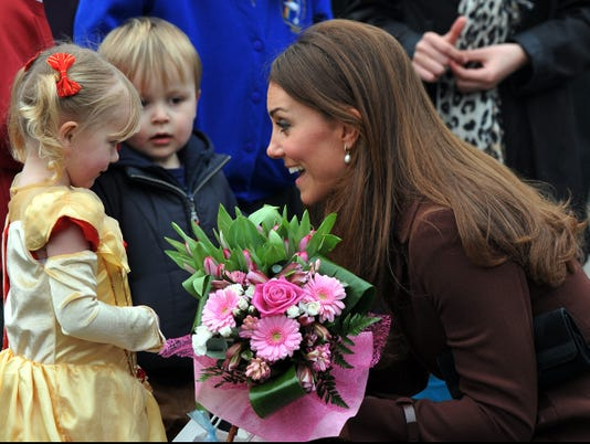 Catherine Duchess of Cambridge and fans