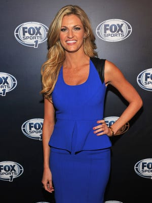 Erin Andrews attends the 2013 Fox Sports Media Group Upfront after party at Roseland Ballroom on March 5 in New York City.