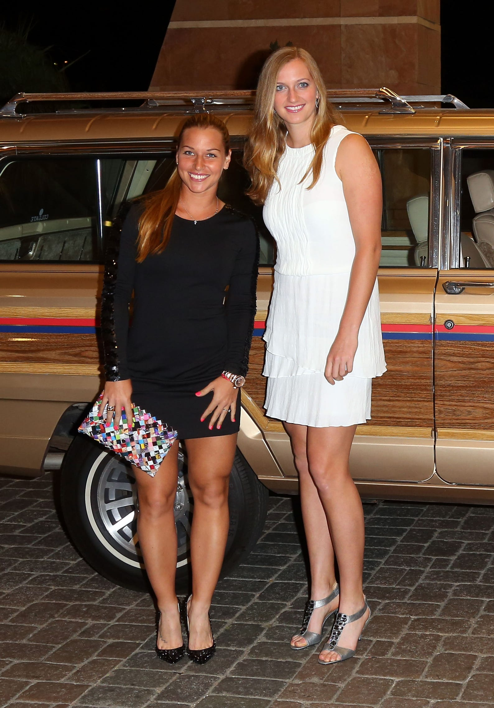 Ana Ivanovic Feet tennis stars all dressed up for indian wells players' party