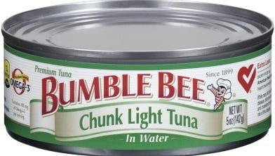 Cans of Bumble Bee tuna in water are among those recalled for loose seals.