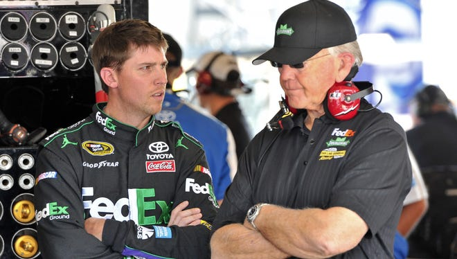 Denny Hamlin has driven for Joe Gibbs his entire Cup career, which started in 2005.