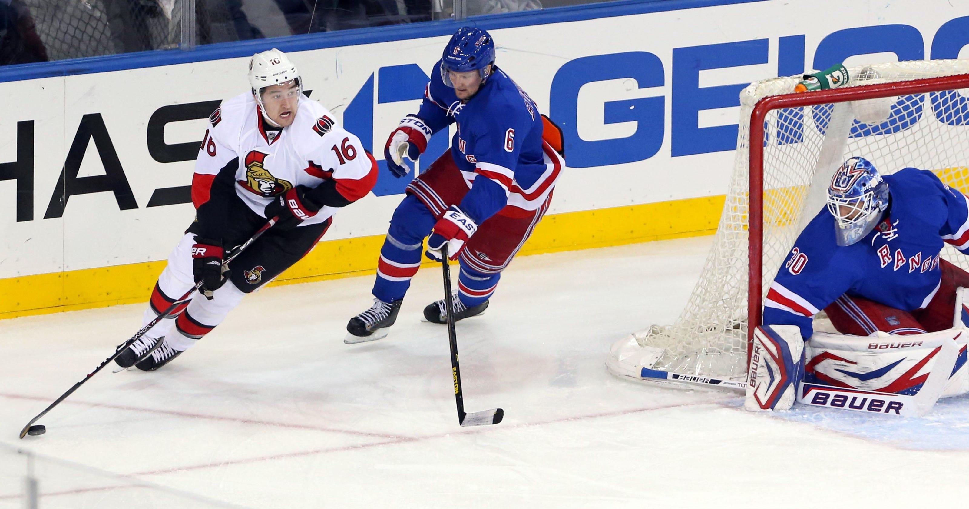 ca272a02d Late goal lifts Ottawa Senators over New York Rangers