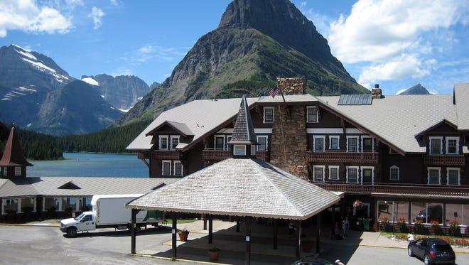Many Glacier Hotel is one of the hotels inside Glacier National Park.